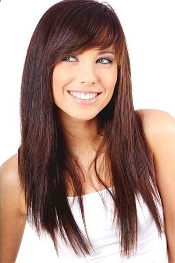 25 Modern Long Haircuts With Side Bangs Layers For Oval Round