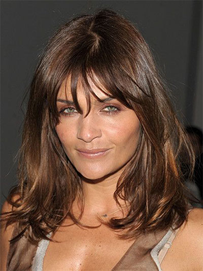 25-Modern-Medium-Length-Haircuts-With-Bangs -Layers-For-Thick Hair-Round-Faces-2014-15