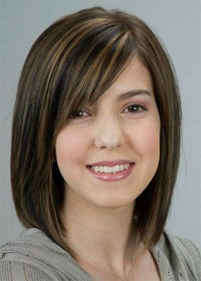 25-Modern-Medium-Length-Haircuts-With-Bangs -Layers-For-Thick Hair-Round-Faces-2014-16