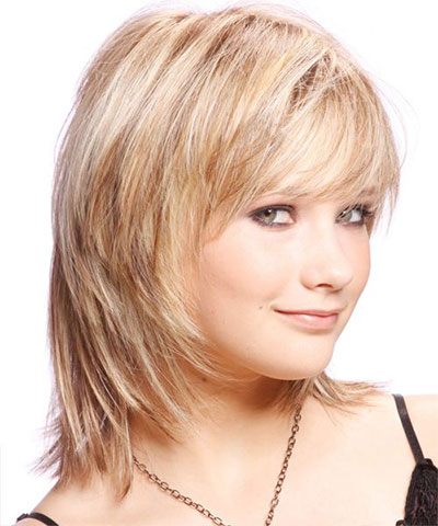 Pleasing 25 Modern Medium Length Haircuts With Bangs Layers For Thick Short Hairstyles For Black Women Fulllsitofus