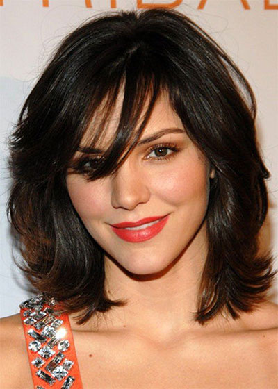 25-Modern-Medium-Length-Haircuts-With-Bangs -Layers-For-Thick Hair-Round-Faces-2014-23