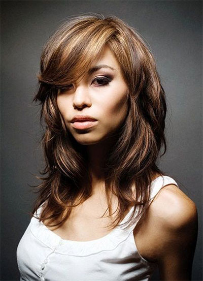 25-Modern-Medium-Length-Haircuts-With-Bangs -Layers-For-Thick Hair-Round-Faces-2014-24
