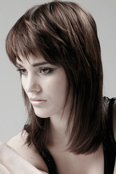 Stupendous 25 Modern Medium Length Haircuts With Bangs Layers For Thick Short Hairstyles Gunalazisus