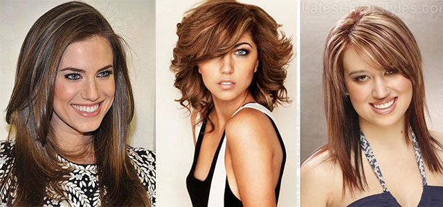 25 Modern Medium Length Haircuts With Bangs Layers For Thick Hair Round Faces 2017