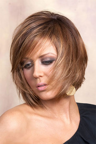 Incredible Bob Haircuts With Bangs And Layers Best Hairstyles 2017 Hairstyles For Men Maxibearus