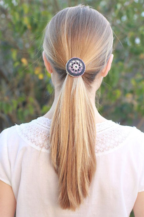 12 Simple Ponytail Hair Accessories For Teenage Girls ...