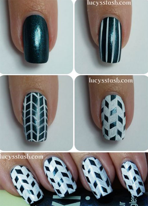 25-Easy-Step-By-Step-Nail-Art-Tutorials-For-Beginners-Learners-2014-10
