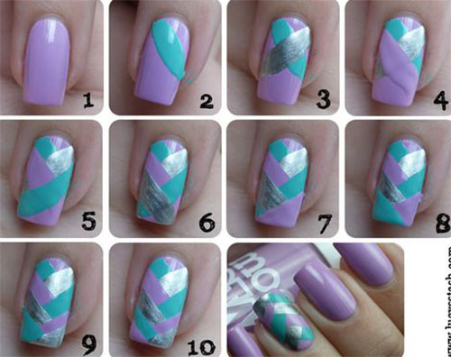 25-Easy-Step-By-Step-Nail-Art-Tutorials-For-Beginners-Learners-2014-21