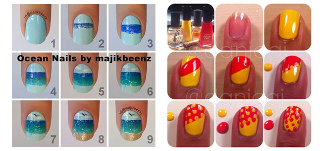 25 Easy Step By Nail Art Tutorials For Beginners Learners 2014