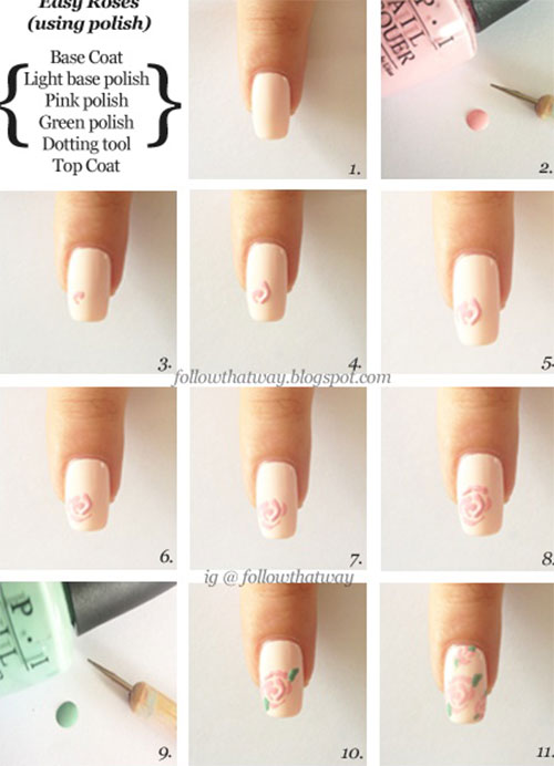 10 easy acrylic nail art tutorials for beginners learners 2014 10 easy acrylic nail art tutorials for beginners solutioingenieria Image collections
