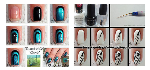 10 Easy Acrylic Nail Art Tutorials For Beginners Learners 2014