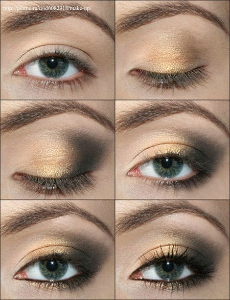 Tutorial For Hazel Eyes Eyeshadow: 18 + Easy Fall / Autumn Make Up Tutorials For Beginners