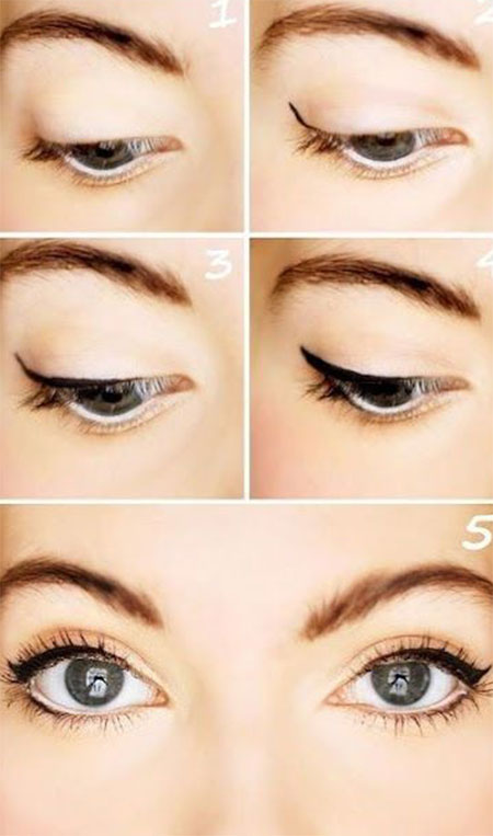 12+ Easy Step By Step Natural Eye Make Up Tutorials For ...