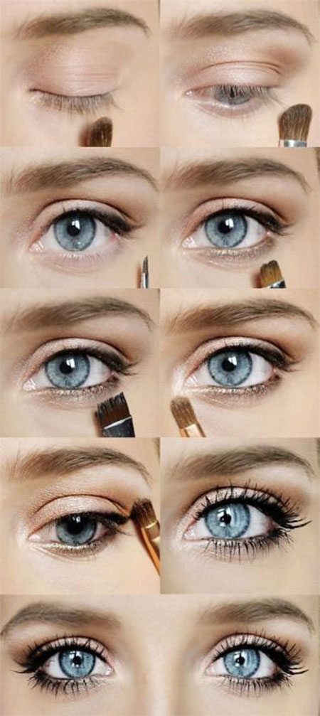 12+ Easy Step By Step Natural Eye Make Up Tutorials For