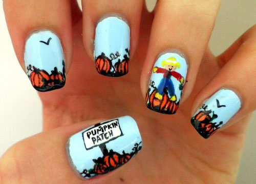 12-Halloween-Pumpkin-Nail-Art-Designs-Ideas-Trends-Stickers-2014-6