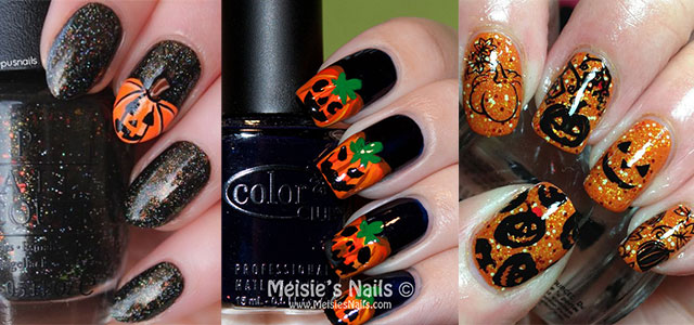 12 Halloween Pumpkin Nail Art Designs Ideas Trends Stickers