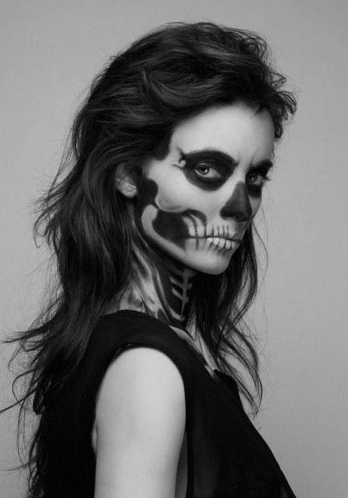 12-Halloween-Skeleton-Make-Up-Ideas-Looks-For-Girls-2014-12