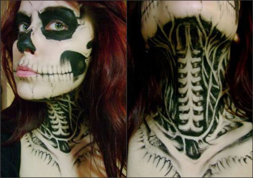 12-Halloween-Skeleton-Make-Up-Ideas-Looks-For-Girls-2014-13