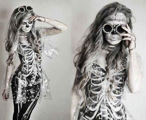 12-Halloween-Skeleton-Make-Up-Ideas-Looks-For-Girls-2014-14