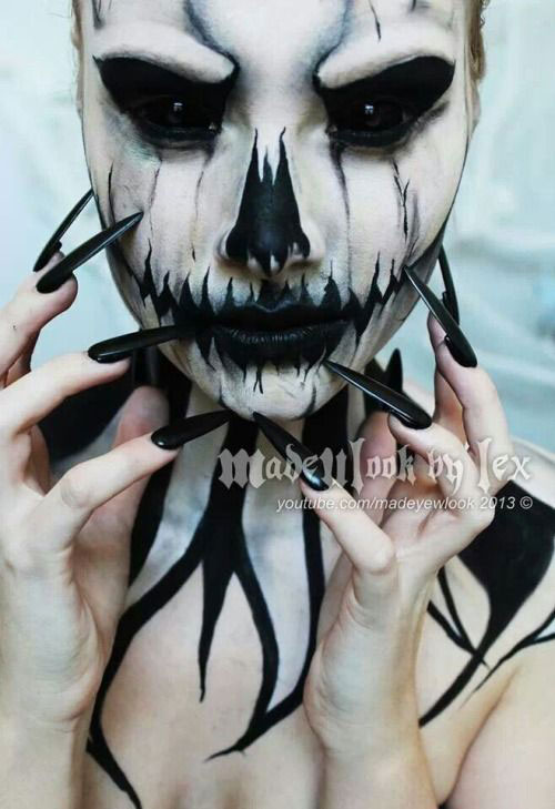 12-Halloween-Skeleton-Make-Up-Ideas-Looks-For-Girls-2014-5