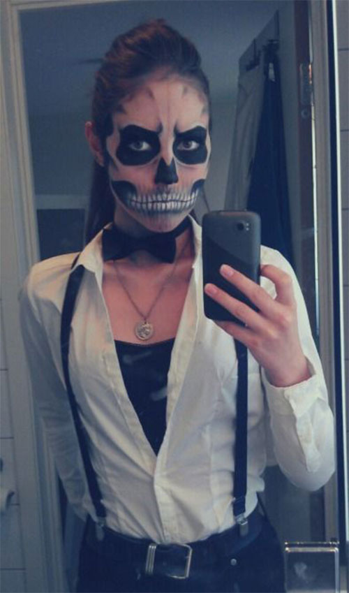 12-Halloween-Skeleton-Make-Up-Ideas-Looks-For-Girls-2014-6