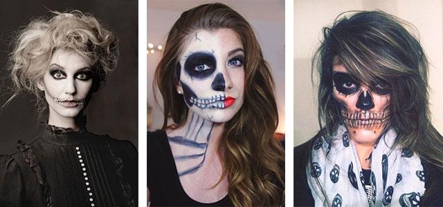 12-Halloween-Skeleton-Make-Up-Ideas-Looks-For-Girls-2014-F