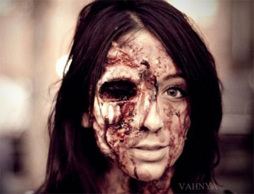 15 Best Halloween Zombie Face Make Up Looks Ideas U0026 Trends For Girls 2014 | Modern Fashion Blog
