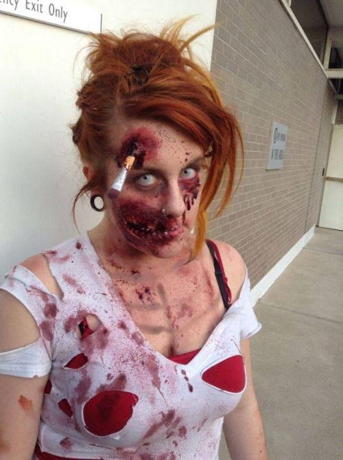 halloween makeup zombie girl - photo #23