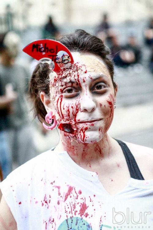 halloween makeup zombie girl - photo #32