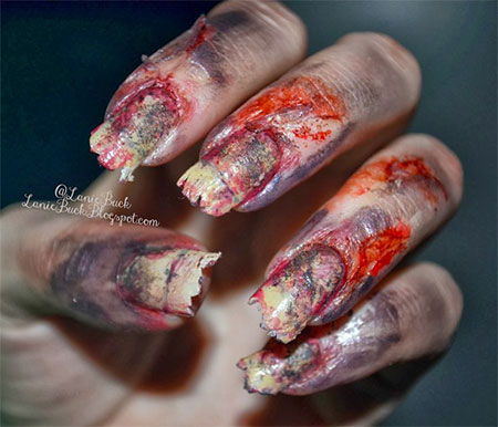 15 best halloween zombie nail art designs ideas trends 15 best halloween zombie nail art designs ideas prinsesfo Choice Image