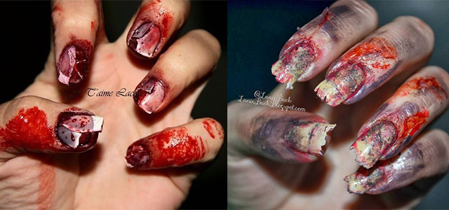 15 Best Halloween Zombie Nail Art Designs, Ideas, Trends & Stickers 2014 - 15 Best Halloween Zombie Nail Art Designs, Ideas, Trends