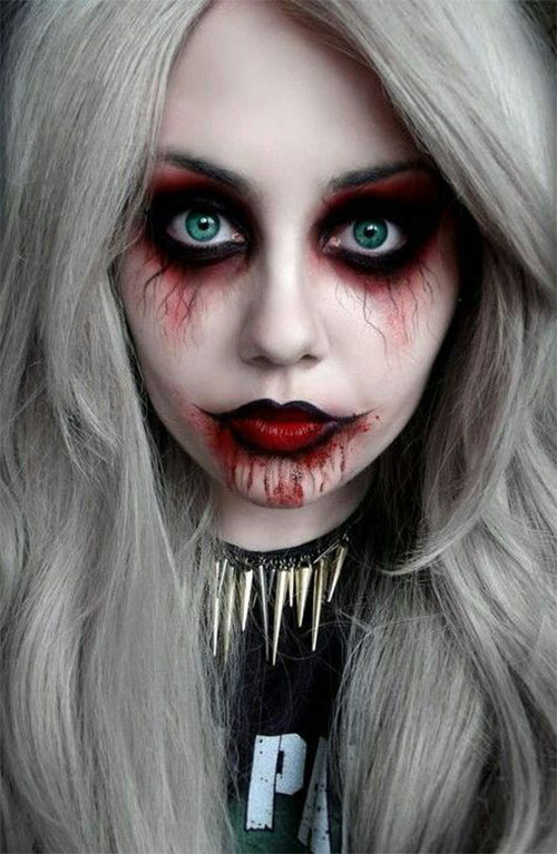 15 inspiring halloween vampire make up ideas looks for. Black Bedroom Furniture Sets. Home Design Ideas