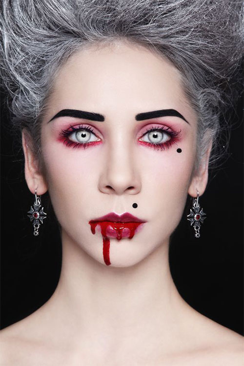 15 inspiring halloween vampire make up ideas looks for girls 2014 modern fashion blog. Black Bedroom Furniture Sets. Home Design Ideas