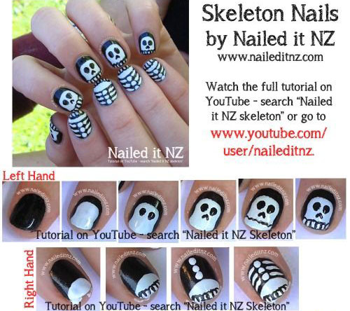 15 scary halloween nail art tutorials for beginners learners 15 scary halloween nail art tutorials for beginners prinsesfo Choice Image