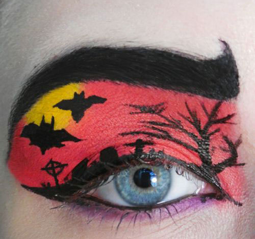 15-Scary-Halloween-Zombie-Eye-Make-Up-Looks-Ideas-For-Girls-2014-14