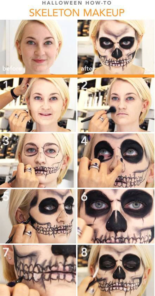 15-Step-By-Step-Halloween-Make-Up-Tutorials-For-Beginners-Learners-2014-1
