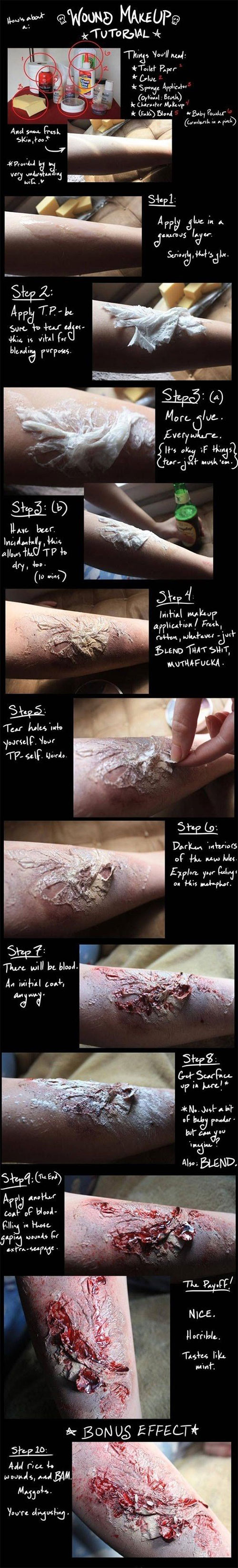 15-Step-By-Step-Halloween-Make-Up-Tutorials-For-Beginners-Learners-2014-15