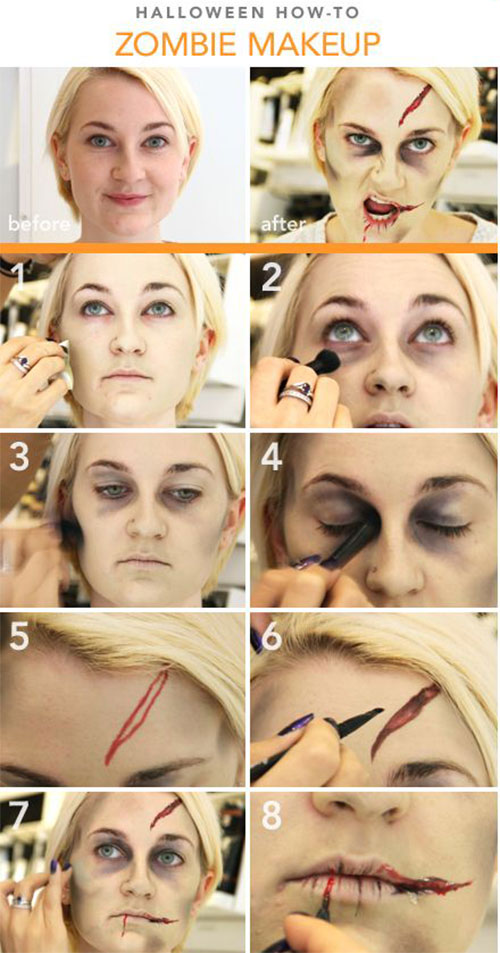 15-Step-By-Step-Halloween-Make-Up-Tutorials-For-Beginners-Learners-2014-3