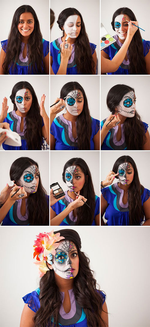 15-Step-By-Step-Halloween-Make-Up-Tutorials-For-Beginners-Learners-2014-4