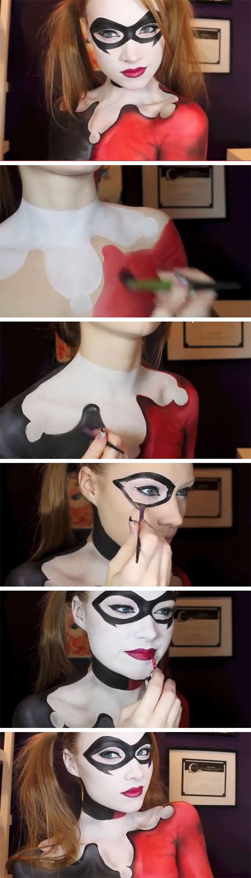 15-Step-By-Step-Halloween-Make-Up-Tutorials-For-Beginners-Learners-2014-7