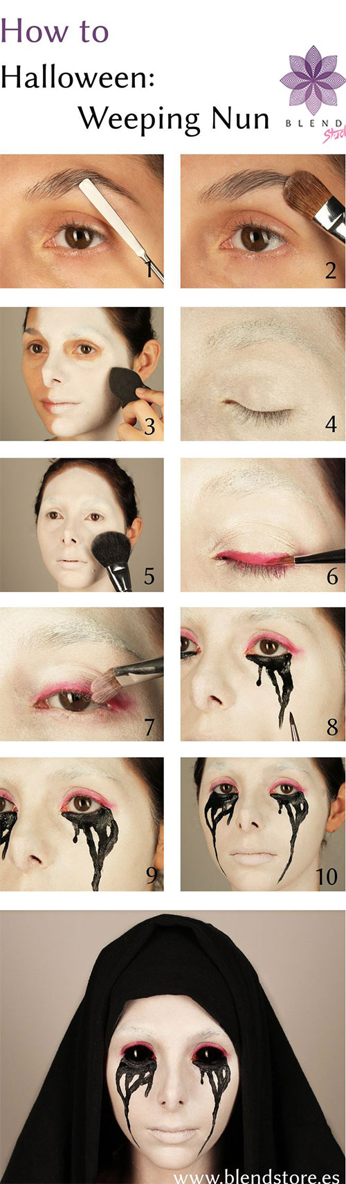 15-Step-By-Step-Halloween-Make-Up-Tutorials-For-Beginners-Learners-2014-8