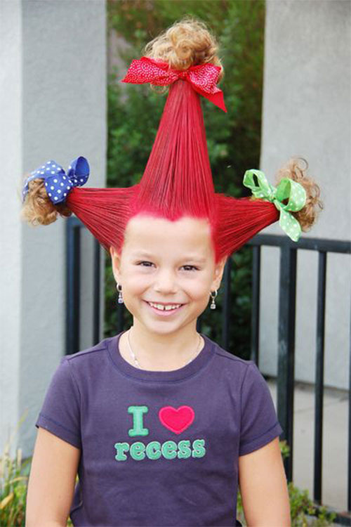 Terrific 20 Crazy Amp Scary Halloween Hairstyle Ideas Amp Looks For Kids Short Hairstyles Gunalazisus