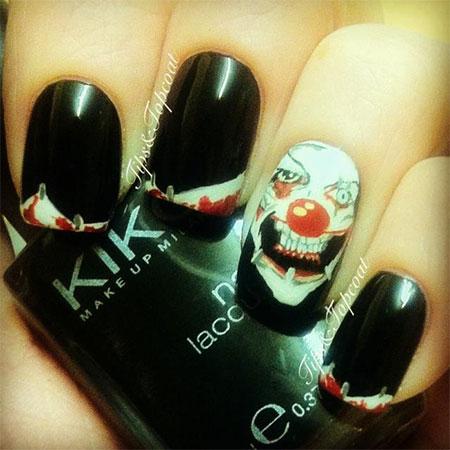 20  simple  scary halloween nail art designs ideas