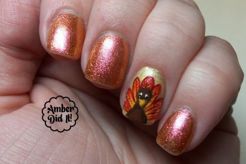 30 Thanksgiving Nail Art Designs Ideas Trends Stickers 2014