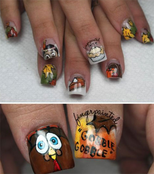 30-Thanksgiving-Nail-Art-Designs-Ideas-Trends-Stickers-2014-Thanks-Giving-Nails-30
