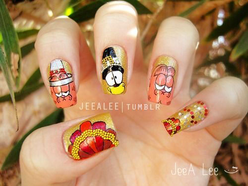 30-Thanksgiving-Nail-Art-Designs-Ideas-Trends-Stickers-2014-Thanks-Giving-Nails-7