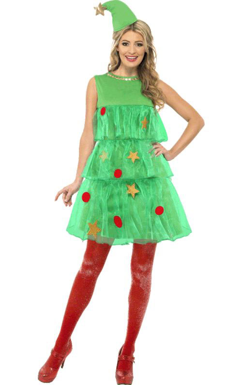 10-Home-made-Christmas-Tree-Costume-Ideas-For-Girls-Kids-2014-11