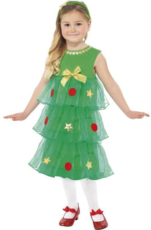 10-Home-made-Christmas-Tree-Costume-Ideas-For-Girls-Kids-2014-2