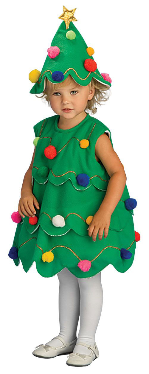 10-Home-made-Christmas-Tree-Costume-Ideas-For-Girls-Kids-2014-3