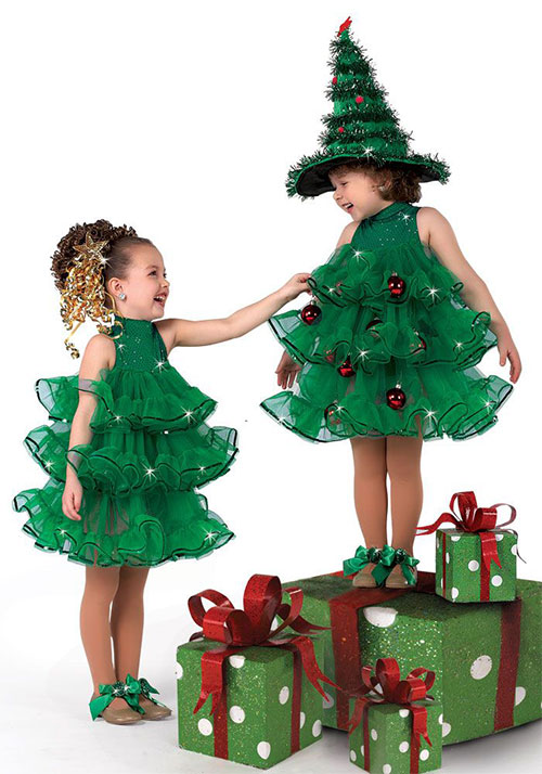 10 home made christmas tree costume ideas for girls - Trajes para navidad ninos ...